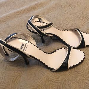 """Moschino NWT Black ankle strap heels 3"""""""